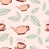 Tea Seamless Pattern Stock Photos