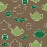 Tea Seamless Pattern Background Vector Illustration Stock Photography