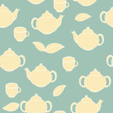 Tea Seamless Pattern Background Vector Illustration Royalty Free Stock Photo