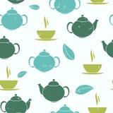 Tea Seamless Pattern Background Vector Illustration Stock Image