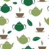 Tea Seamless Pattern Background Vector Illustration Stock Photos
