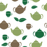 Tea Seamless Pattern Background Vector Illustration Royalty Free Stock Image