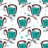 Tea seamless pattern Stock Photos