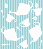 Tea seamless pattern Royalty Free Stock Photo
