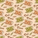 Tea seamless pattern Stock Image