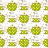 Tea seamless pattern Stock Photography