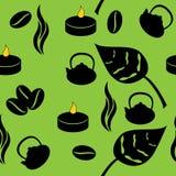 Tea seamless pattern Royalty Free Stock Photos