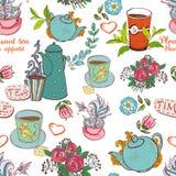 Tea seamless stock photography