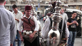 Tea seller in Damascus, Syria Stock Photo