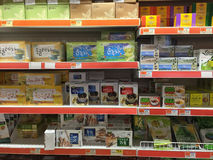 Tea selling at supermarket Royalty Free Stock Photography
