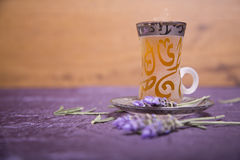 Tea served with lovely lavender Royalty Free Stock Image