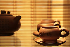 Tea service. Chinese tea ceremony. Tea service Royalty Free Stock Images