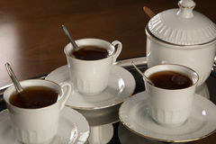 Tea Service Close - Up Royalty Free Stock Photos