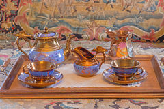 Tea service porcelain from 19. cent. Royalty Free Stock Photos