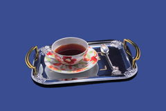 Tea service on a tray. Royalty Free Stock Photos