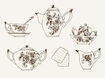 Tea service Stock Image