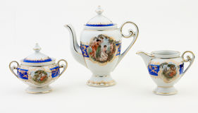 Tea set. Produced in Germany until 1950 Royalty Free Stock Images