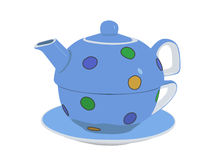 Tea set. An illustration of a colourful tea set Royalty Free Stock Image