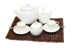 Tea set angle Stock Photography