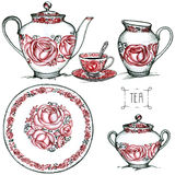 Tea set Royalty Free Stock Image
