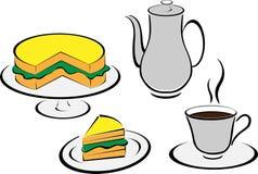 Tea set and bread Royalty Free Stock Photo