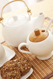 Tea set closeup Stock Photography