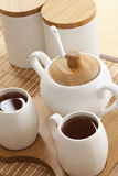 Tea set closeup Royalty Free Stock Photography
