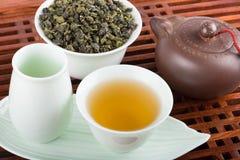 Tea set closeup Royalty Free Stock Images