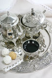 Tea set and cookies Royalty Free Stock Photo