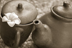Tea set decoration Royalty Free Stock Images