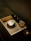 Tea set  on a desk of tea house 2 Royalty Free Stock Images