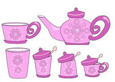 Tea set flower Royalty Free Stock Photo