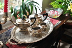 Tea set in a house Stock Image