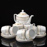 Tea set isolated Royalty Free Stock Photo