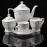 Tea set isolated Royalty Free Stock Image