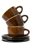 Tea set isolated over white Stock Image