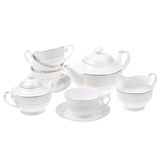 Tea set isolated Royalty Free Stock Photos