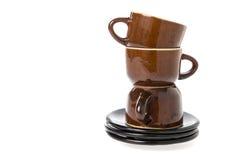 Tea set  over white Royalty Free Stock Photography