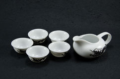 Tea set. From the pottery to put tea Stock Photo