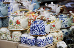 Tea set for sale Royalty Free Stock Photo