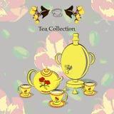 Tea set with samovar Stock Photography