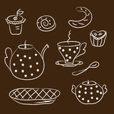 Tea set sketch Stock Photo