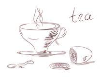 Tea set sketch Royalty Free Stock Photos