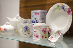 Tea Set in a store Royalty Free Stock Photos