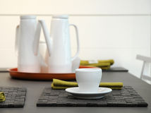 Tea set on the table. Royalty Free Stock Photo