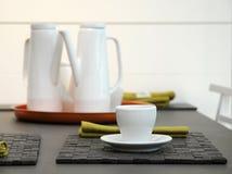 Tea set on the table. Royalty Free Stock Photo