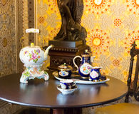 Tea set on the table Stock Photography