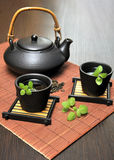 Tea Set with Teapot Royalty Free Stock Images
