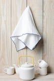 Tea Set and Towel Stock Photography