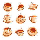 Tea set. Vector Royalty Free Stock Images